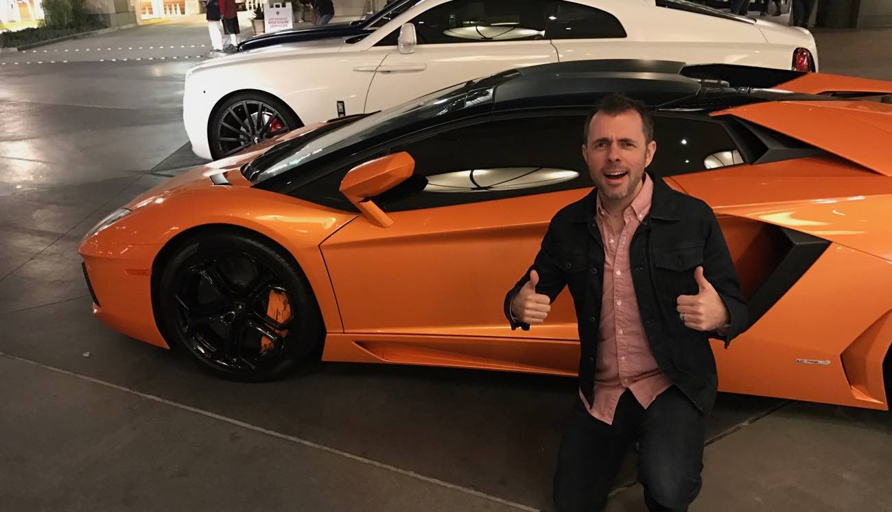 Shawn Blanc Photo Op with an Arancio Atlas Lambo